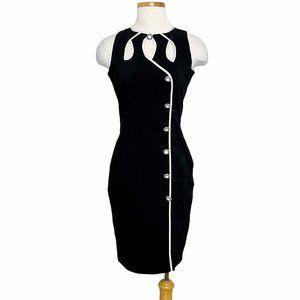 Voodoo Vixen Retro Wiggle Pencil Dress Cut Outs